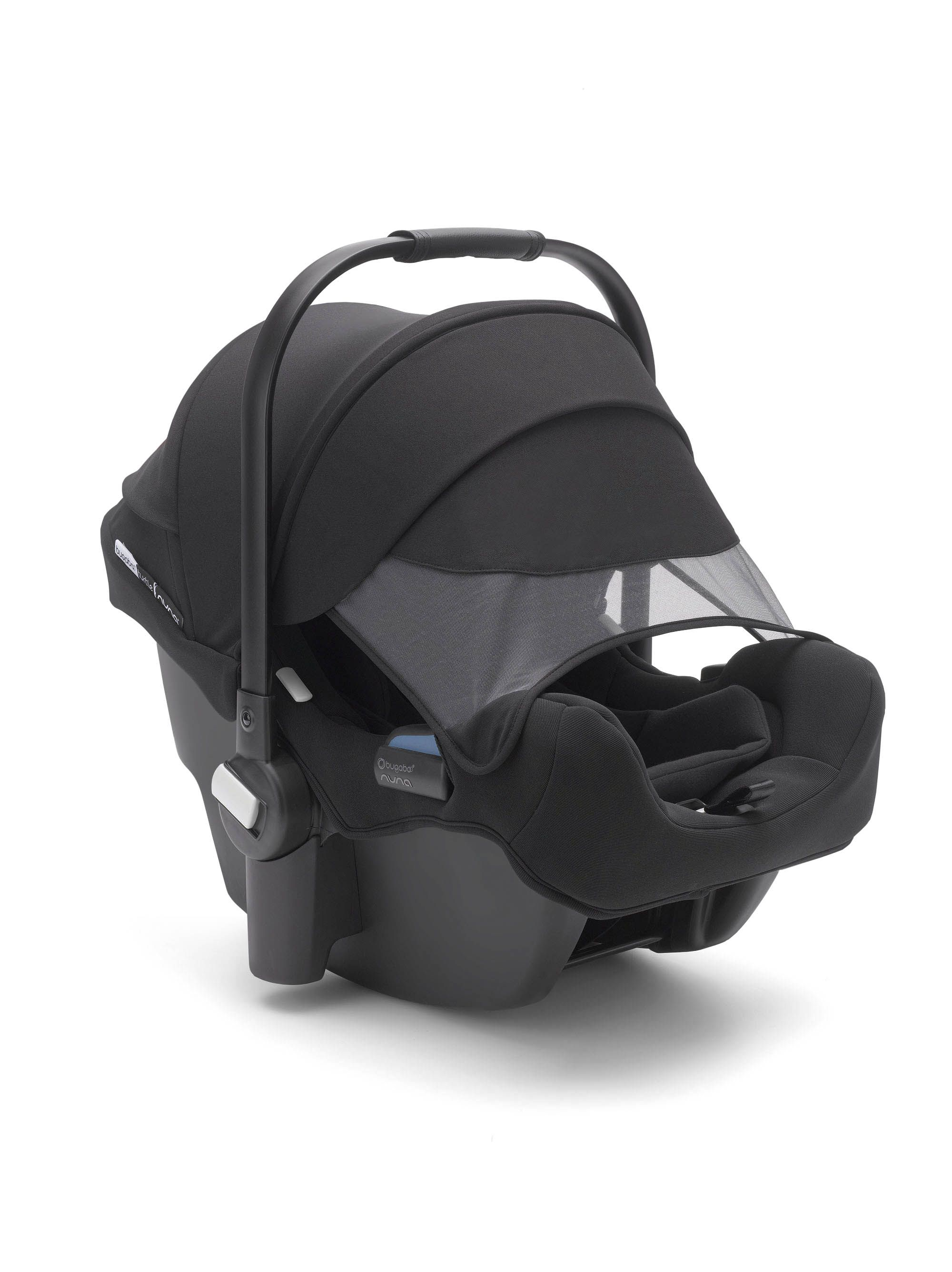 Featuring a signature Bugaboo canopy with mesh peekaboo