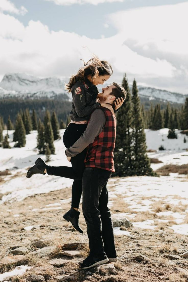 Colorado Snowy Winter Engagement | Silverton Engagement
