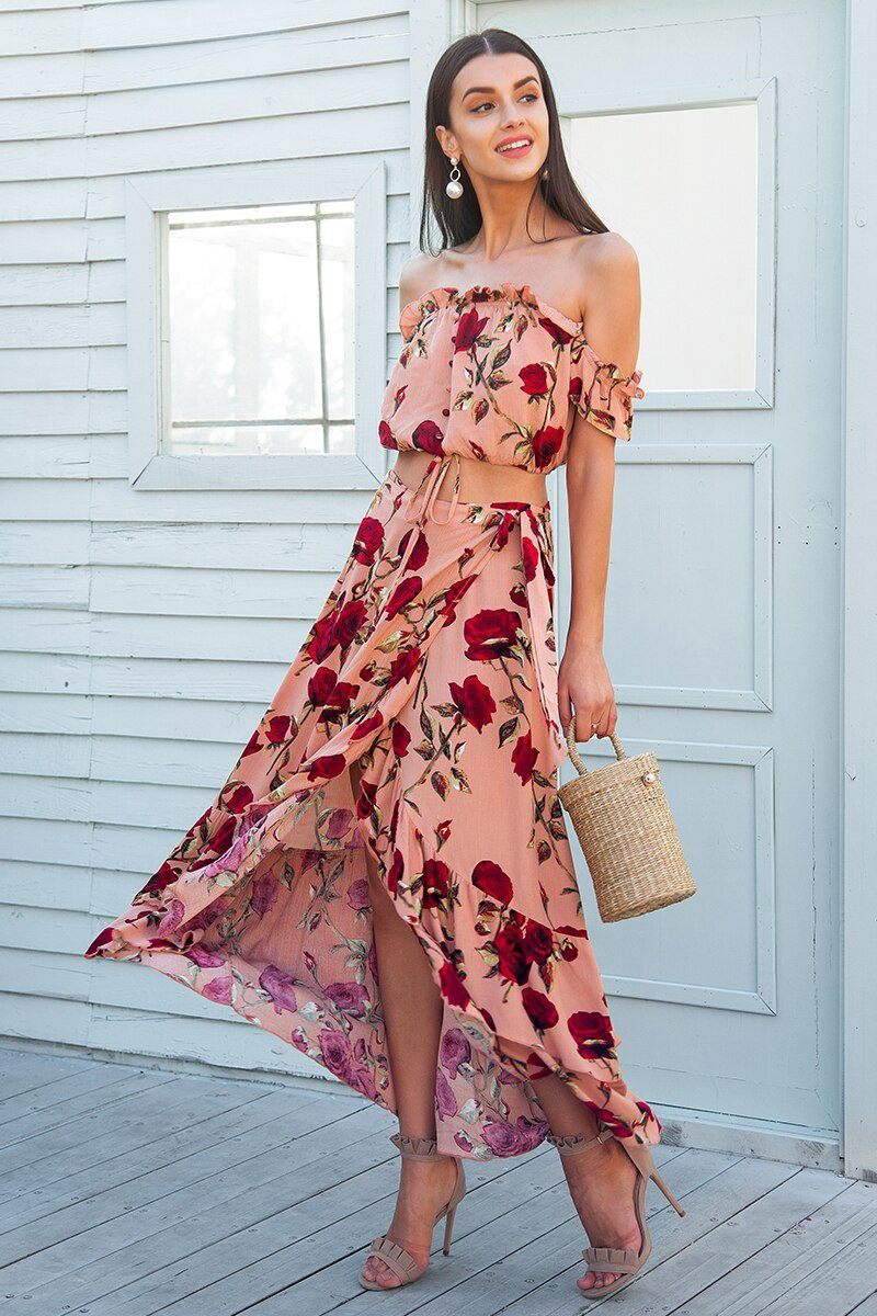 Boho Two Piece Summer Outfits