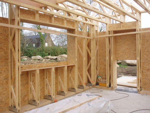 Le montage des murs du0027une maison à ossature en bois fait partie des