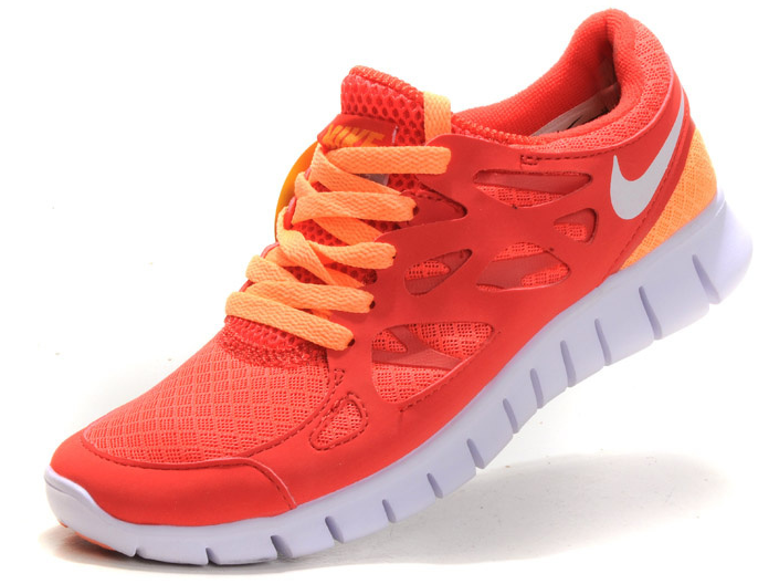 Nike Free Womens For Running Red Orange Nike Frees Sneakers off
