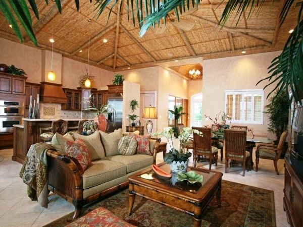 Charmant Tropical Living Room Decoration Ideas Tropical Living Room Design And .