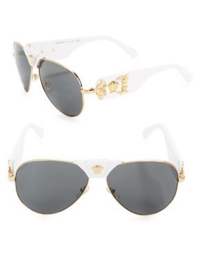 d7f71e5f40f VERSACE 62Mm Aviator Sunglasses.  versace  sunglasses