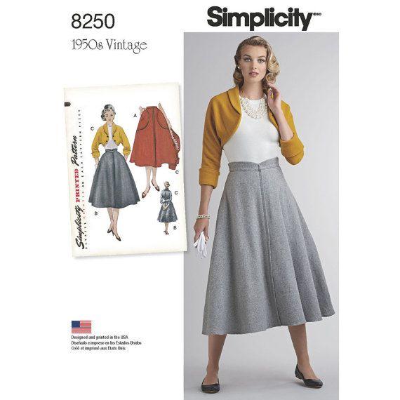 8250 Simplicity Misses Vintage 1950\'s Dress Flared   Emily\'s wedding ...