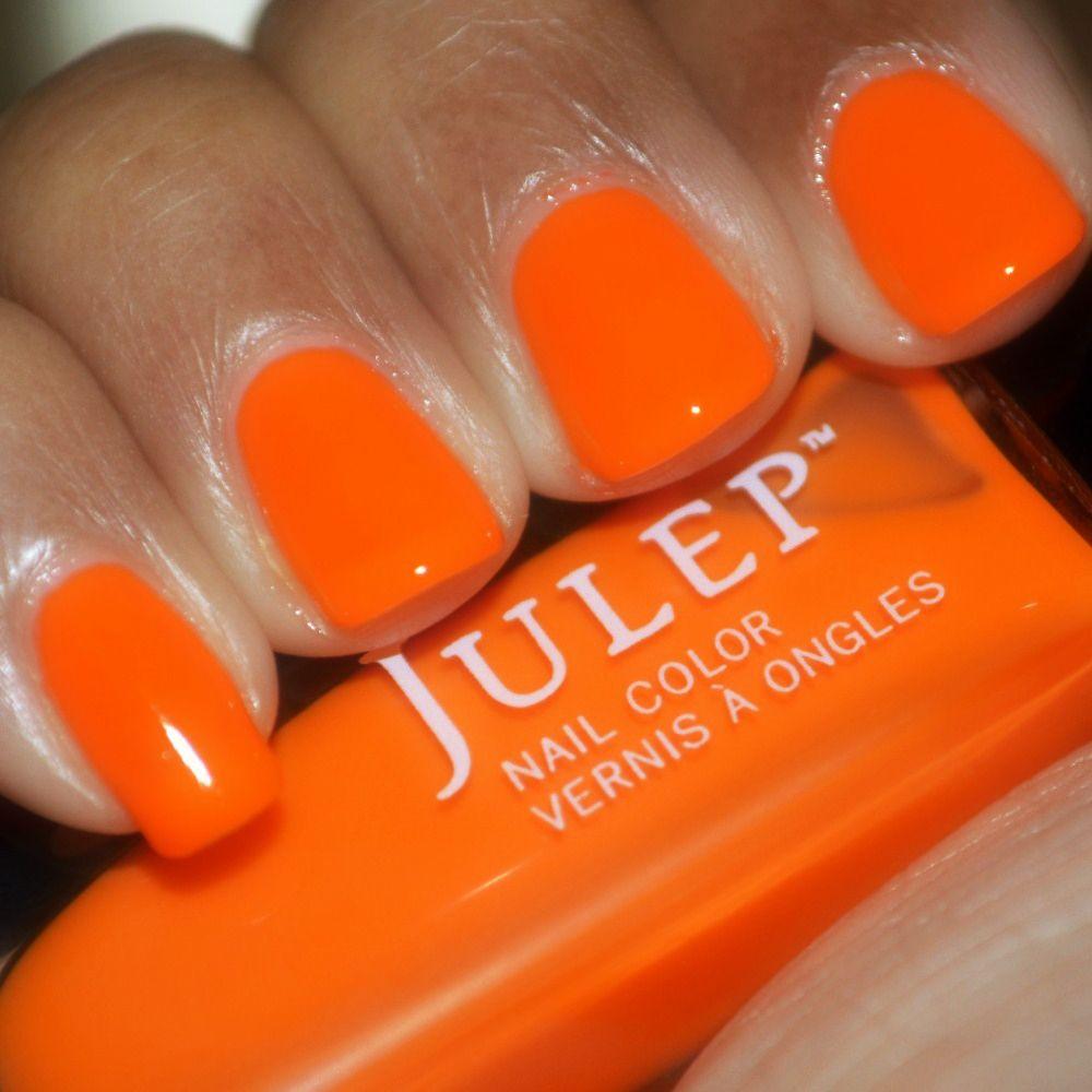 Julep Nail Polish Kaylen swatch, neon orange creme nail polish   All ...