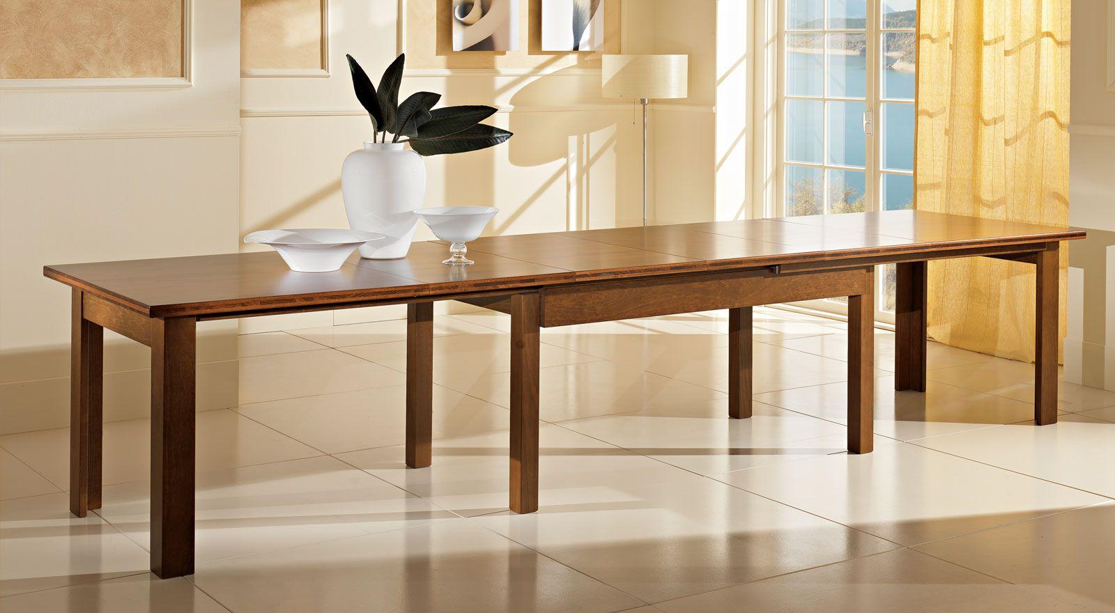Tavolo Allungabile 4 Metri.Tavolo In Legno Allungabile A 4 Metri Art Wood Nel 2020 Tavoli