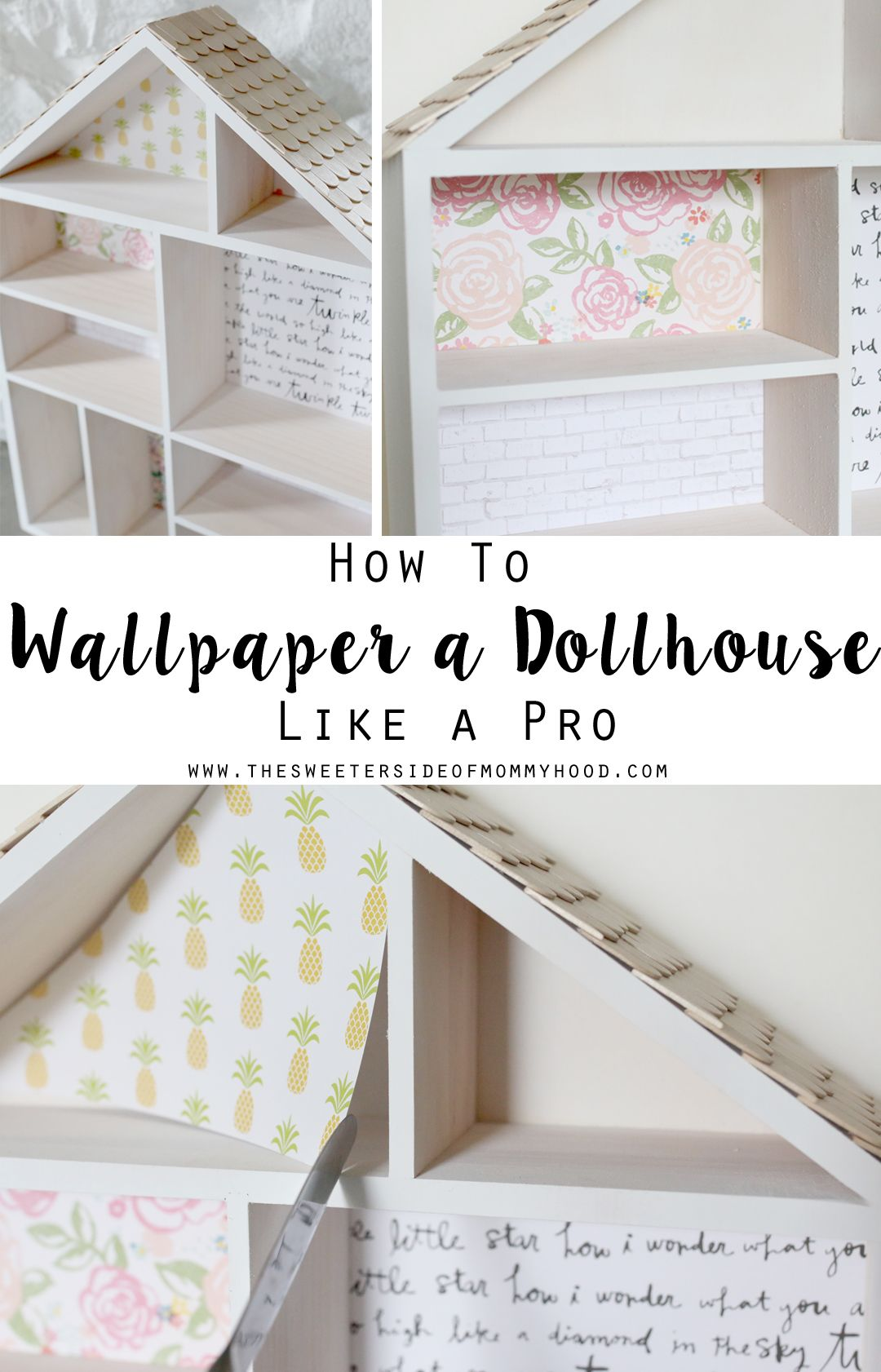 Diy Dollhouse Part 2 How To Wallpaper A Dollhouse Like A