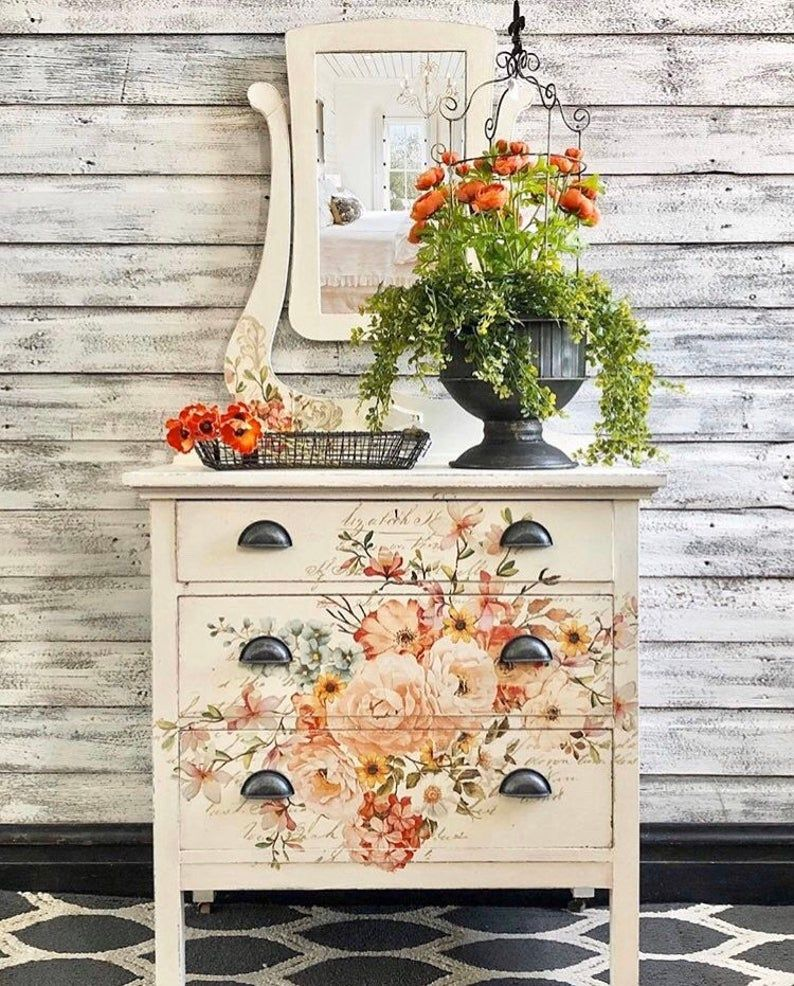 Rub On Transfers For Furniture Furniture Decals Redesign Etsy Decoupage Furniture Shabby Chic Furniture Chic Furniture