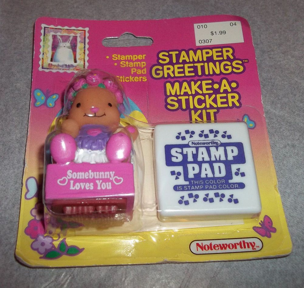 Stamper Greetings Bunny Somebunny Loves You Noteworthy Rubber Stamp Kit Easter #Noteworthy