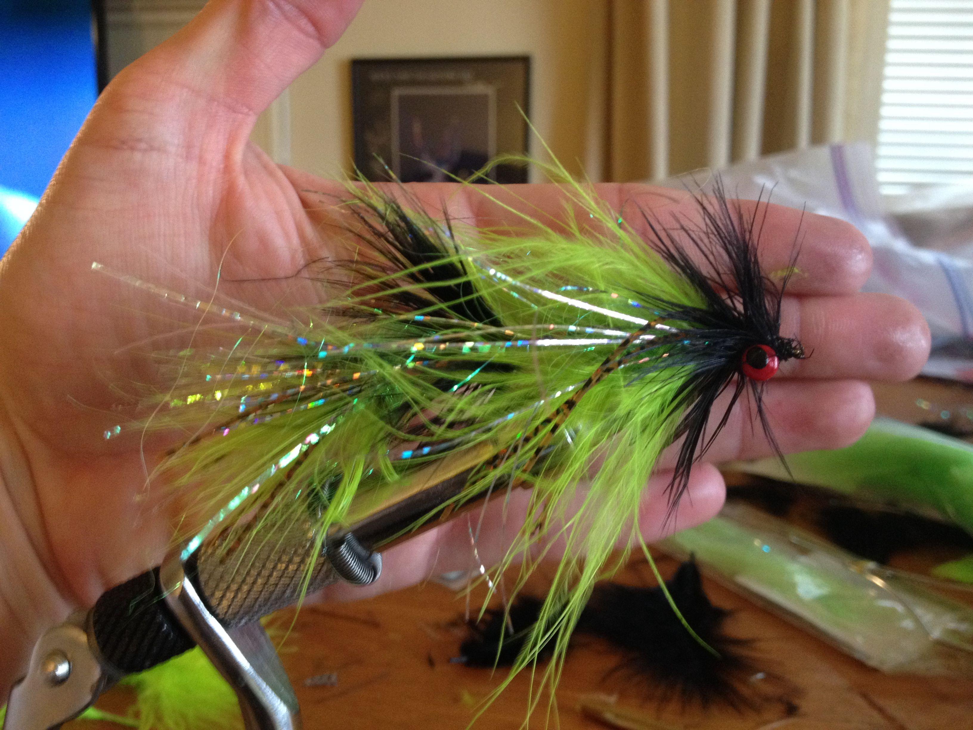 Pike Flies I made.  2 hooks