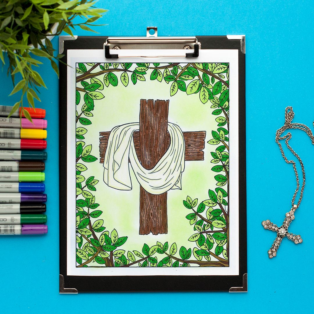 Cross Coloring Page   Seasons, Shop! and Mores