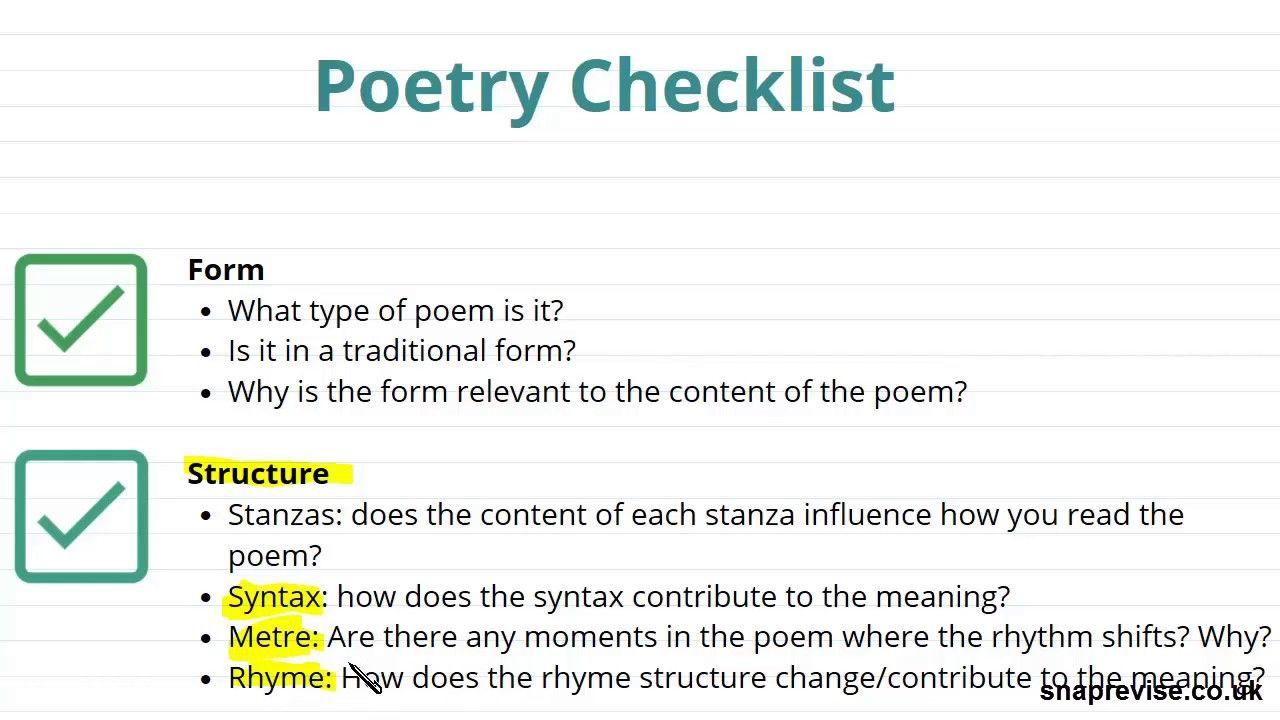 Comparing Poetry Part 1 A Level English Literature Aqa Ocr Edexcel Gcse Essay Structure