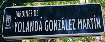 Jardines de Yolanda González Martín. Estudiante. Distrito de Latina. Madrid.
