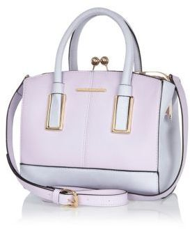 River Island Lilac Structured Mini Tote Bag On Style Co Uk