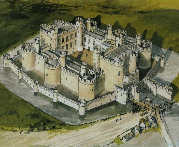 Beaumaris Castle Imaginative Reconstruction The Genius Behind Beaumaris Castle And The Majority Of Edward I S We Medieval Castle Castle Layout Castle Tower