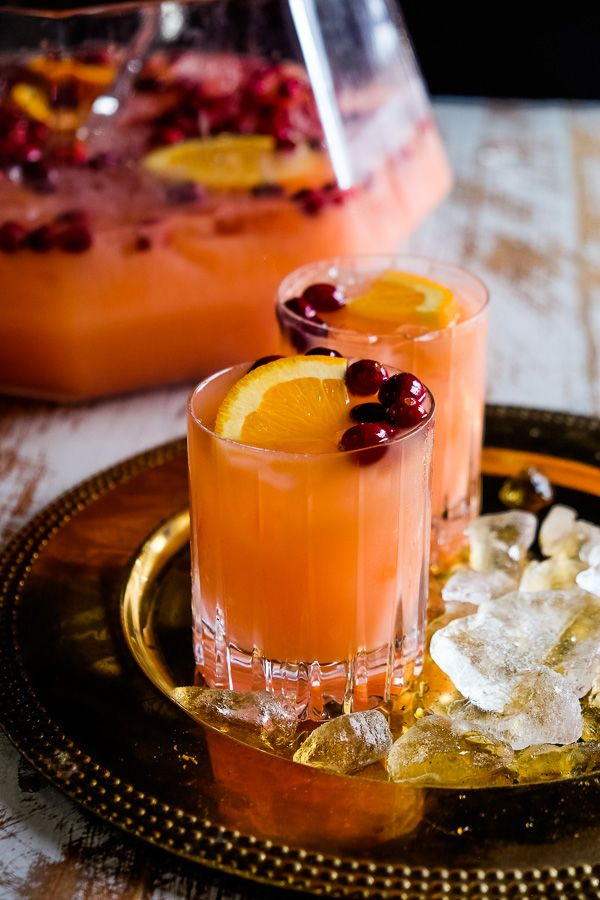 Holiday Rum Punch #cocktaildrinks