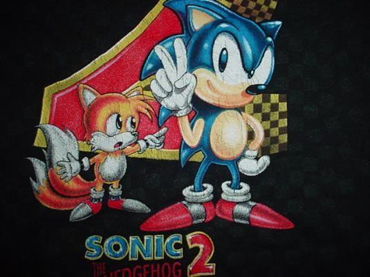 Vintage Sonic The Hedgehog 2 T Shirt Sega 1991 Sonic The Hedgehog