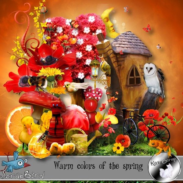 kit warm colors of the spring by kittyscrap