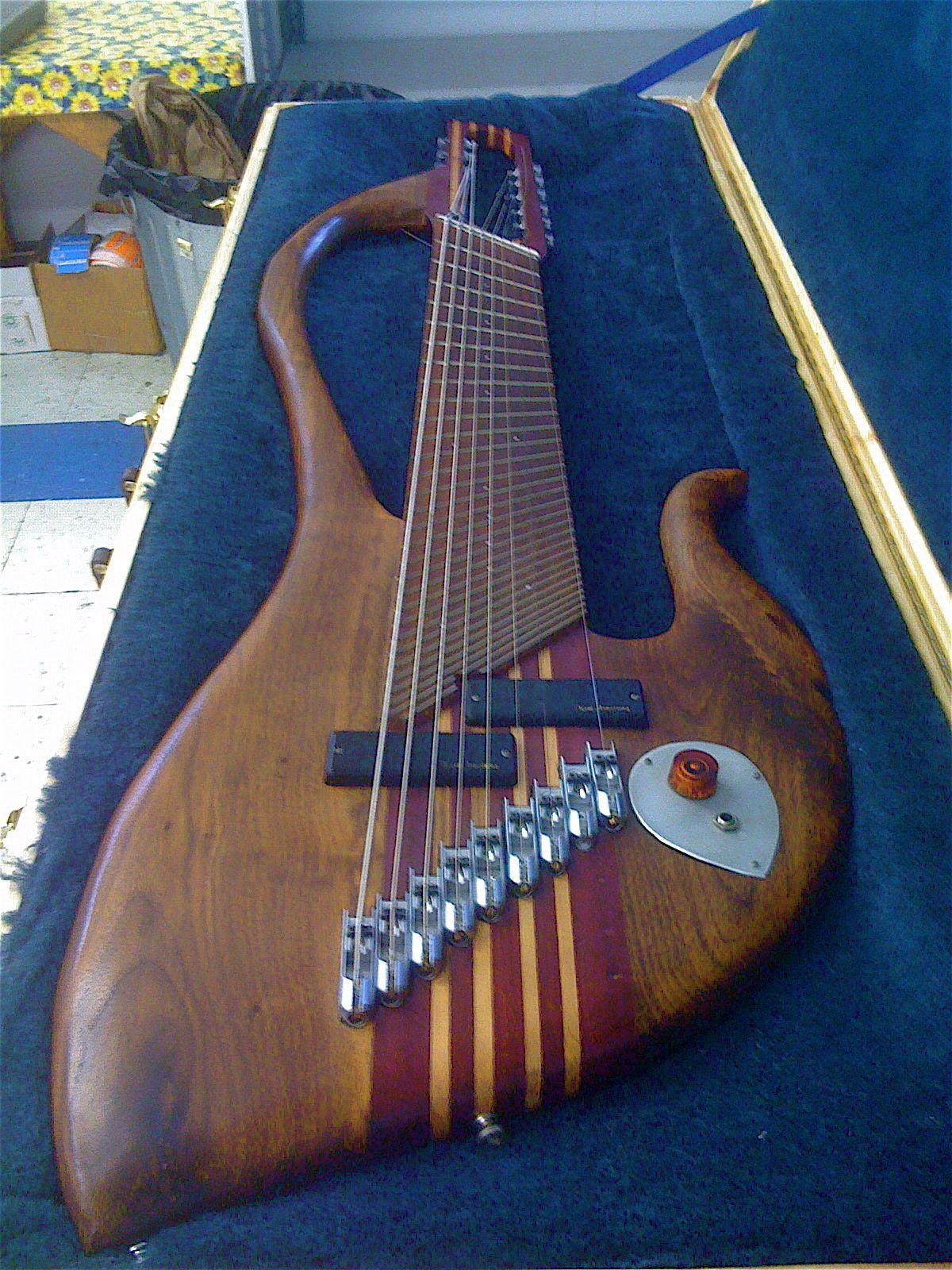 9 nine string bass guitar unique beautiful great sound fanned frets cheap ebay music. Black Bedroom Furniture Sets. Home Design Ideas