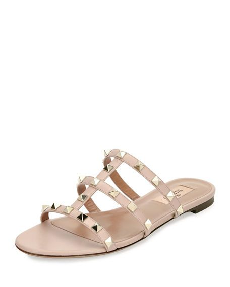 c8d02b8c8a8 VALENTINO Rockstud Caged Sandal Slide.  valentino  shoes  sandals ...