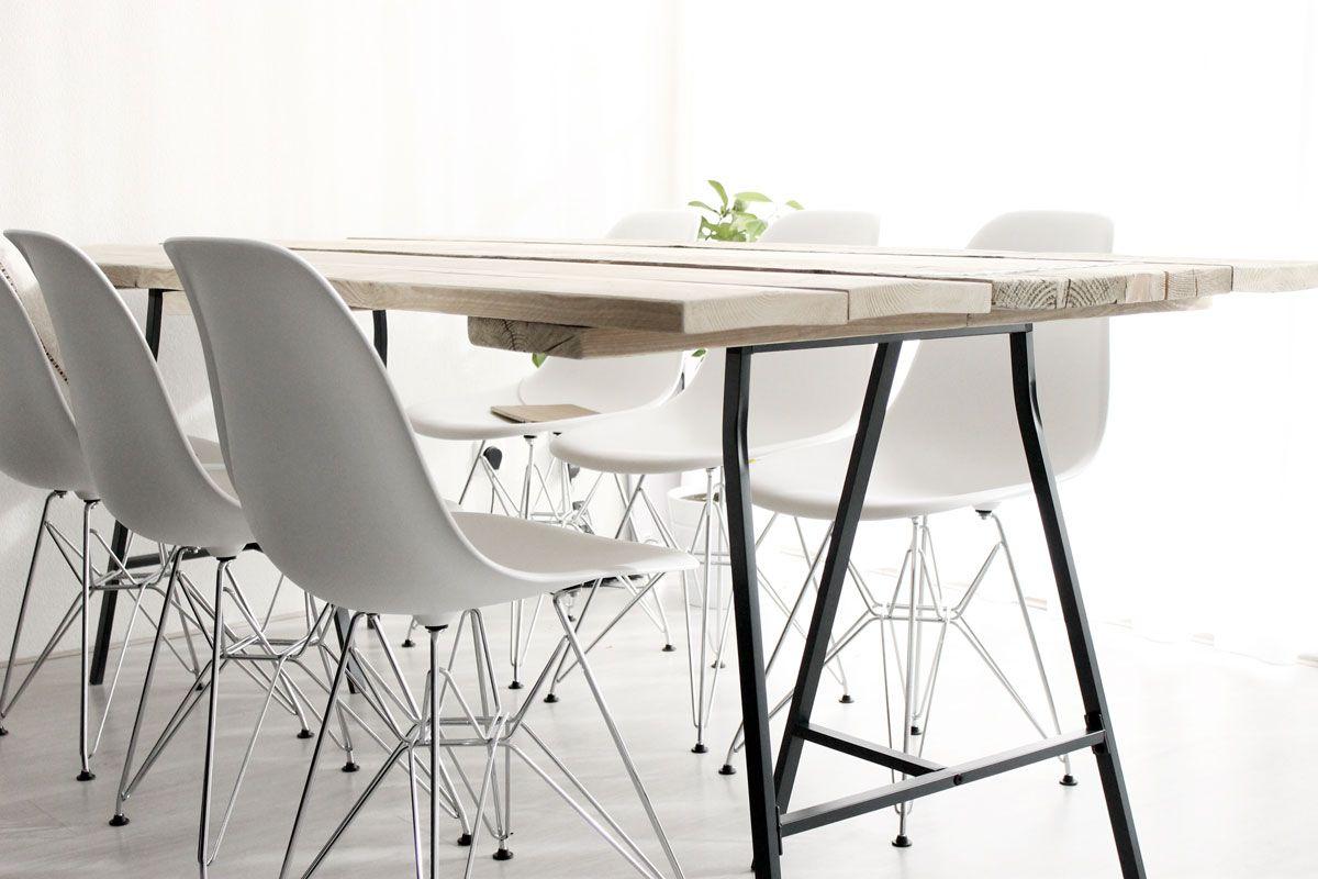 scandinavische tafel, moderne tafel, steigerhouten tafel, tafel met ...