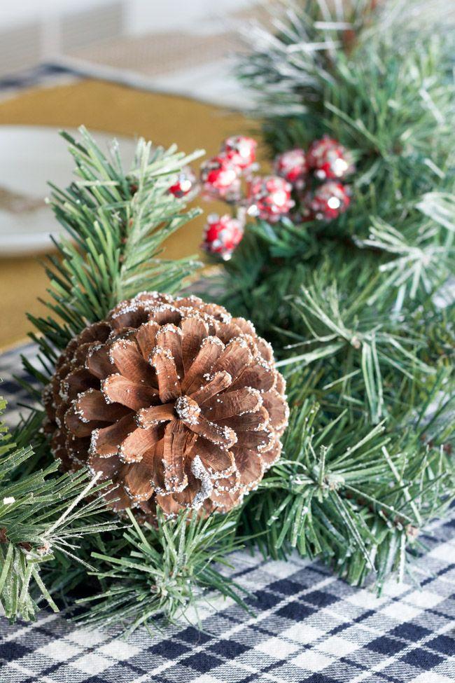 Holiday Decor in the Dining Room Decoración navideña, Casas y Navidad