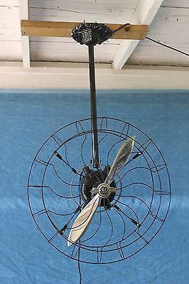 Antique Vintage Ge 21 Circulator Propeller Ceiling Fan