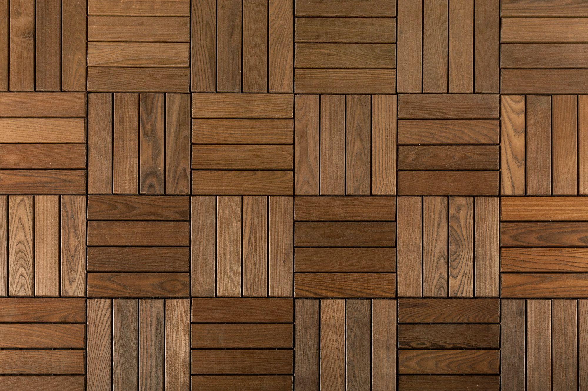 Kontiki Interlocking Deck Tiles Lengo Piastrella Wood Wall