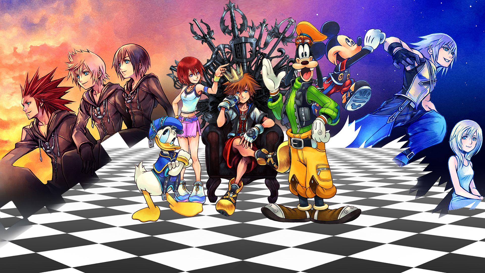 Kingdom Hearts Hd Wallpaper 1920x1080 Id 45611 Kingdom Hearts Wallpaper Kingdom Hearts Hd Kingdom Hearts Characters
