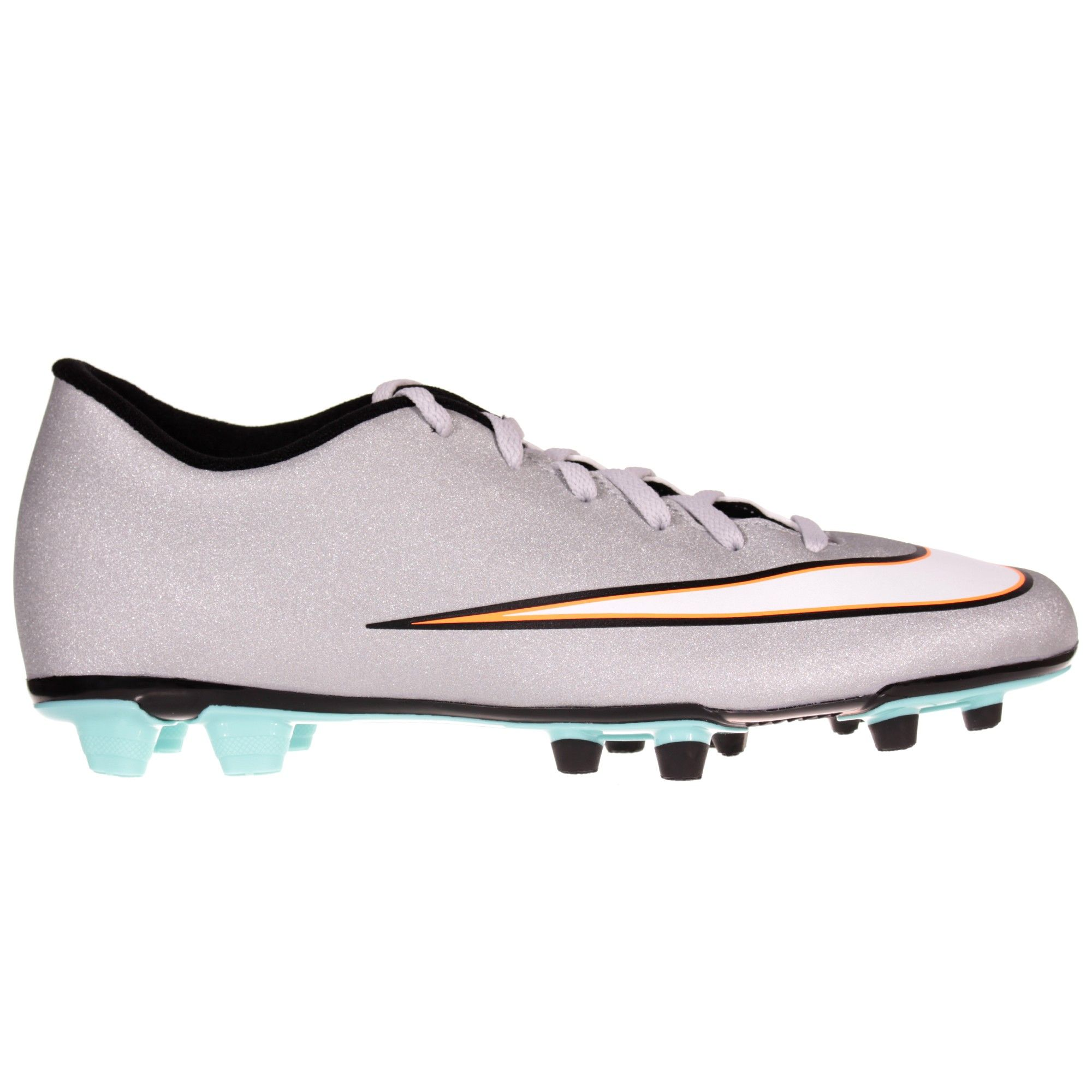 The Nike Mercurial Vortex II Firm Ground Mens Football Boot comes with a  pearlescent silver outer to stand out on pitch like one of the best players  on the ...