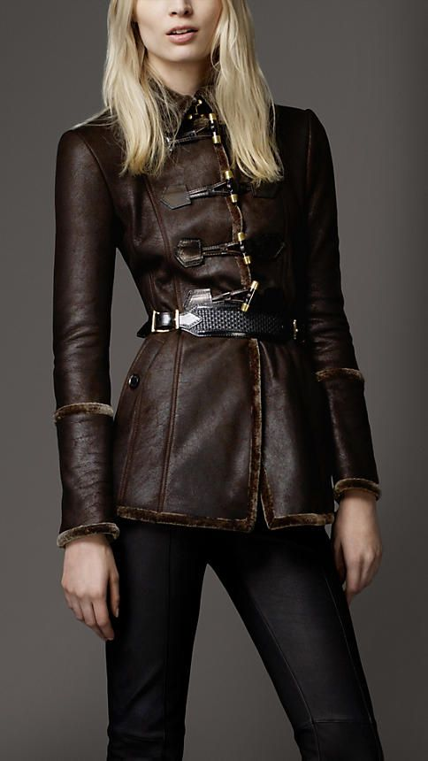 Burberry - Bomber in shearling