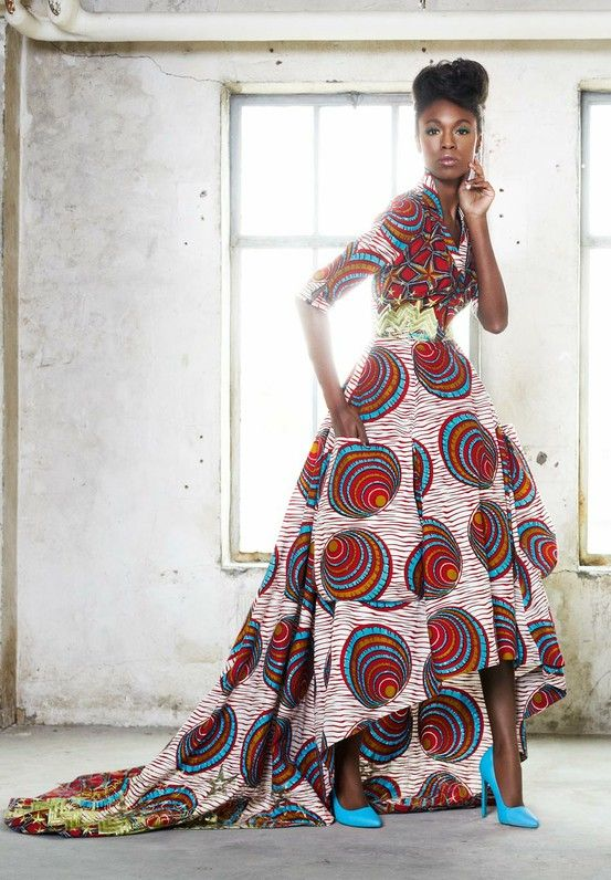 South Africa S Most Fashionable Fabric Is Great Dress Is Pretty Elaborate For Me Esp Cause I Want African Fashion African Print Fashion African Dress