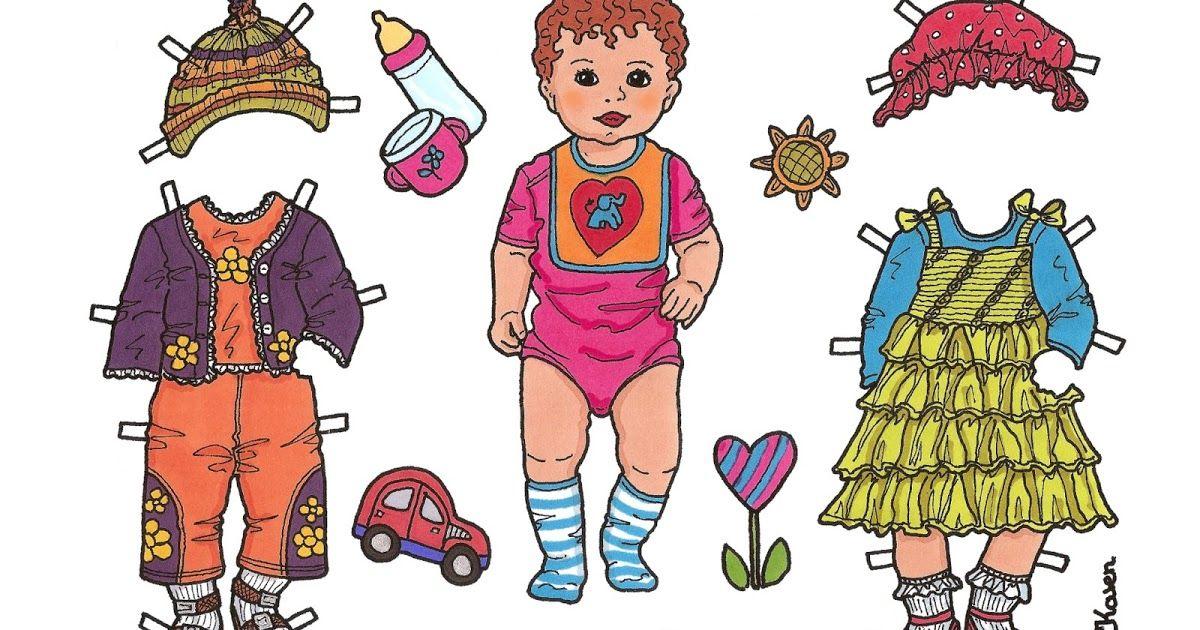 Karen`s Paper Dolls: Anne Sofie Påklædningsdukke Enkeltark i farver. Anne Sofie…