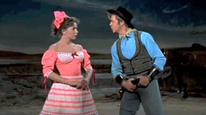 Ado Annie S Dress For The Box Social From Oklahoma Made 1955 Set Early 20th Century Love The Way The Sleev Musical Movies Oklahoma Musical Musical Dress