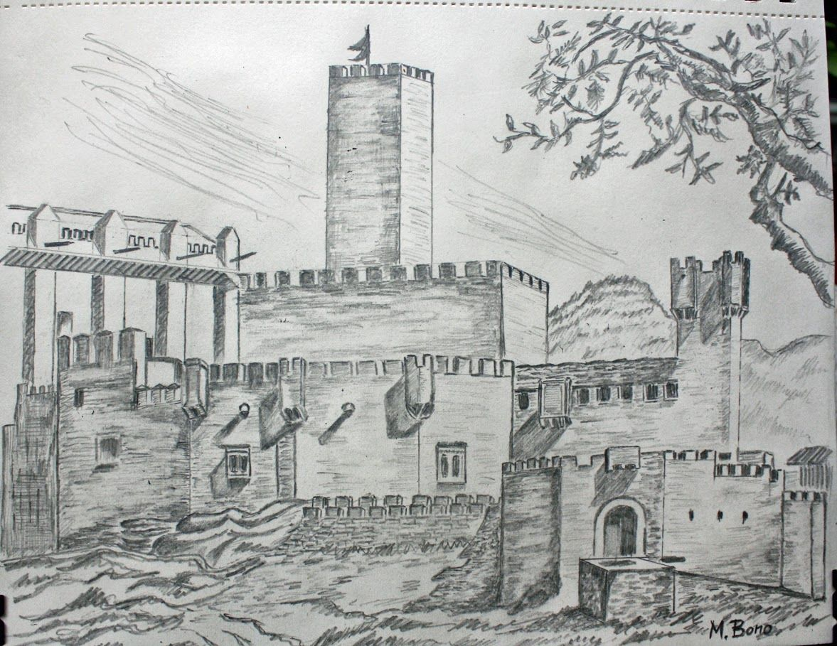 Castillo de Javier  Espaa Dibujo a lpiz  My notes and drawings