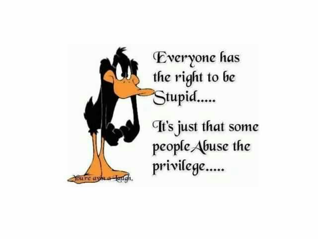 Daffy speaks the truth.