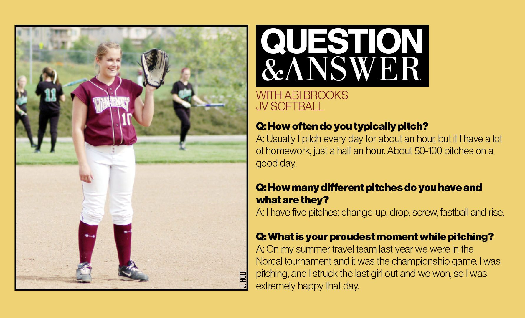 Whitney High School, softball, sports (reporting by J  HOLT