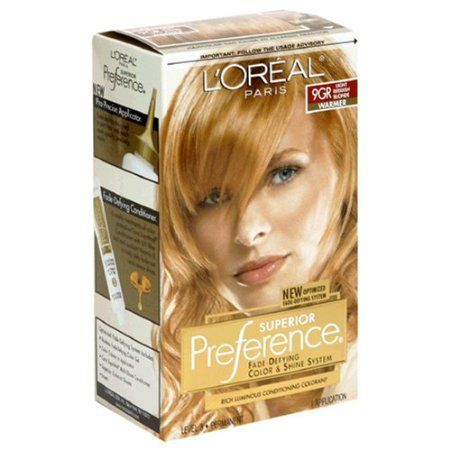 L Oreal Excellence 8rb Reddish Blonde With Images Red To