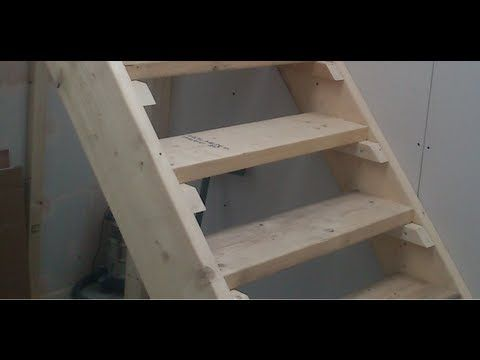 Como hacer escaleras de madera 1 calculo youtube for Construir escalera de madera
