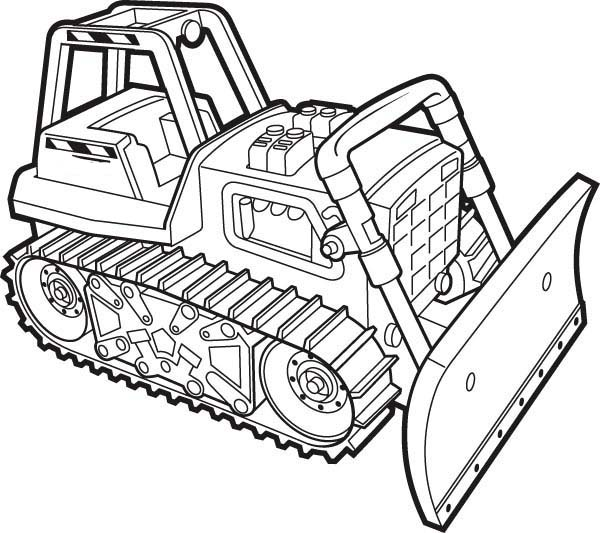 Bulldozer Coloring Pages For Boys Coloring For Kids Birthday Themes For Adults
