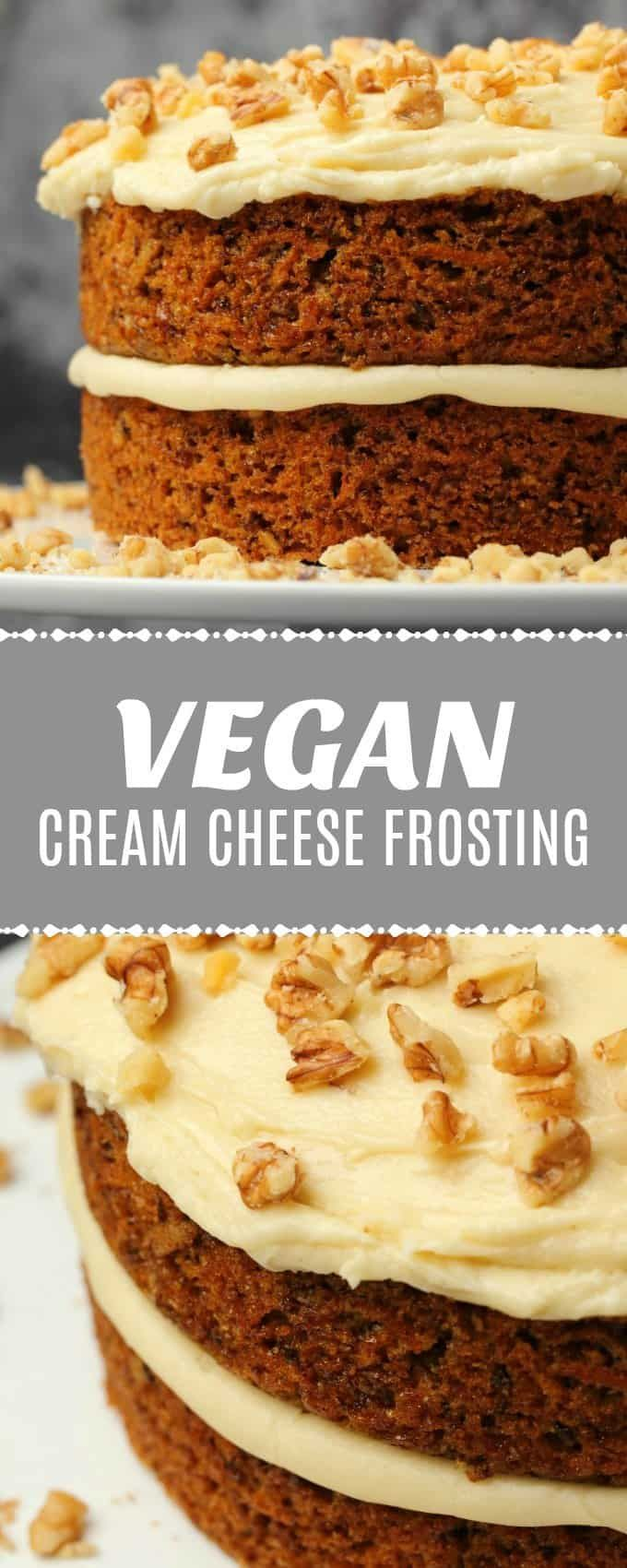 Vegan Cream Cheese Frosting #creamcheeserecipes