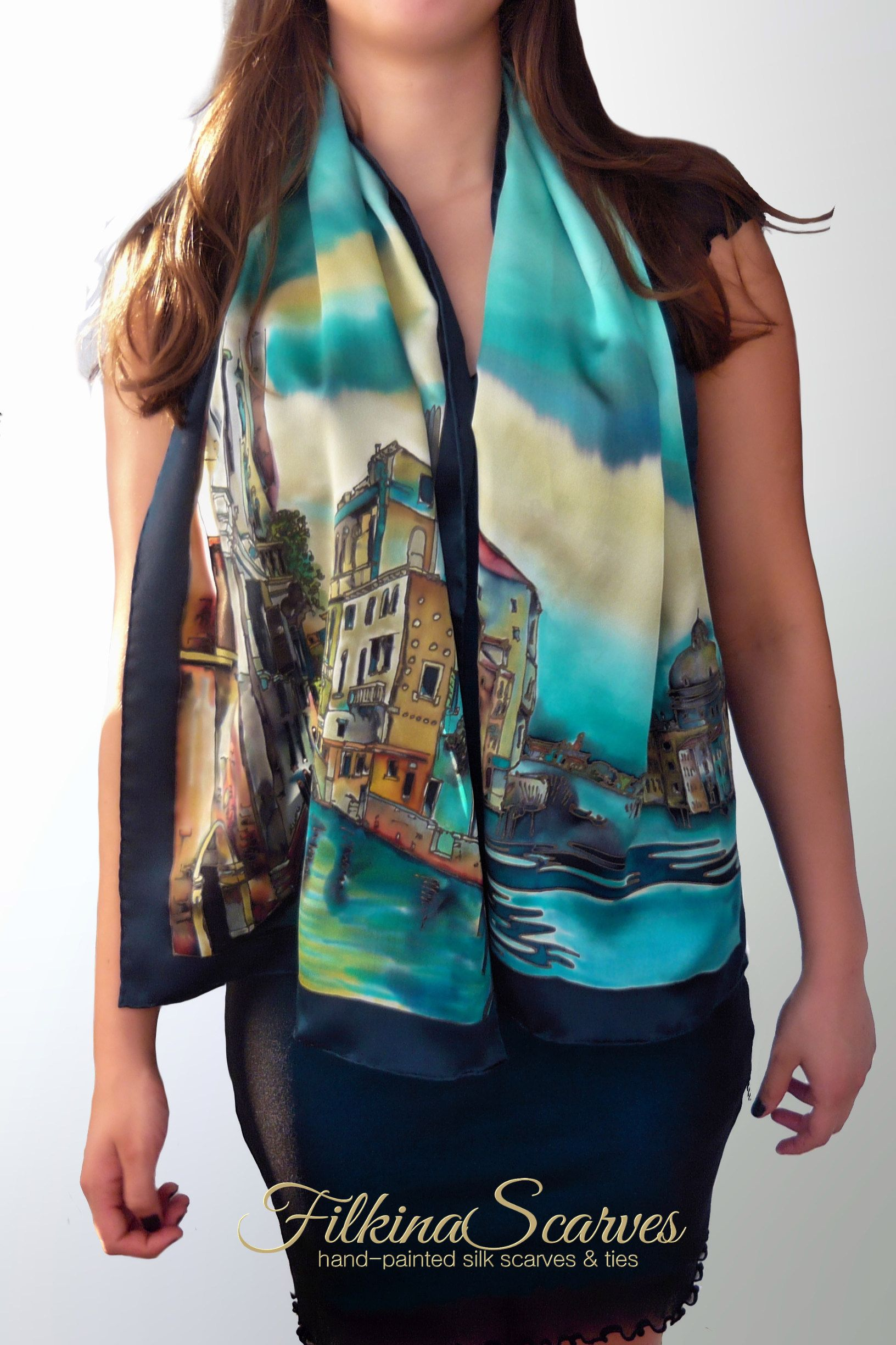 Silk Art. The Perfect Women's Gifts - Unique Hand-Painted Silk Scarves from FilkinaScarves - Venice -   15 dress Silk christmas gifts