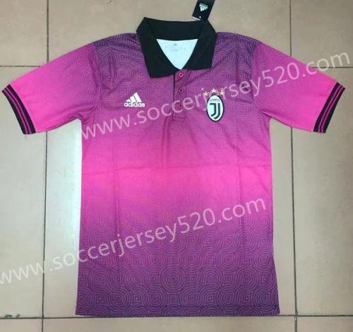 2017-18 Juventus Pink Thailand Polo Shirt  3f47ca468