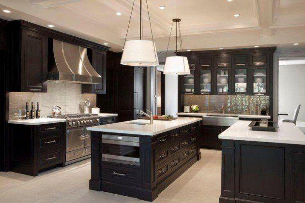 16 Dramatic Dark Kitchen Design Ideas  Dark Kitchens And Interiors Gorgeous Dark Kitchen Designs Inspiration Design