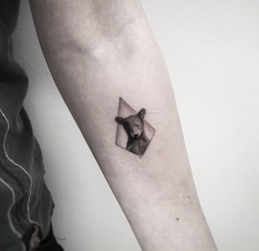 Bear Tattoo Small: These Are Possibly The Cutest Animal Tattoos Ever (54