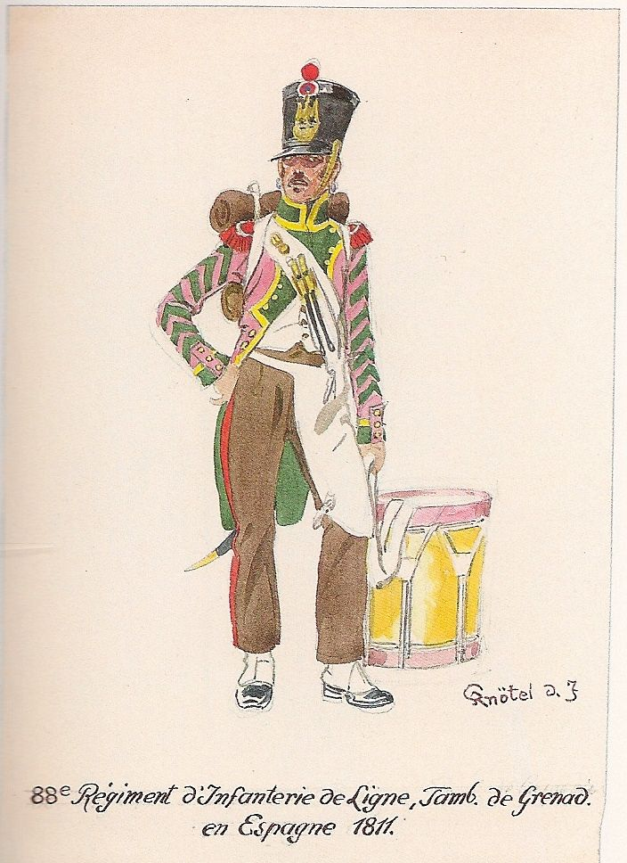 French; 88th Line Infantry, Grenadier Drummer, Spain, 1811