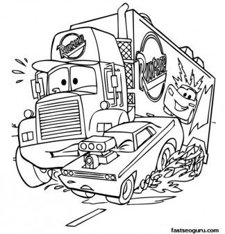 mack car 2 printbale coloring pages disney characters printable coloring pages for kids - Cars 2 Coloring Pages To Print