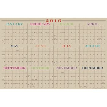 The ultimate multi-tasker! Plan your year ahead with this laminated monthly calendar. For use with dry erase markers so you can make changes as you go. Two-sided so you can display vertically or horiz