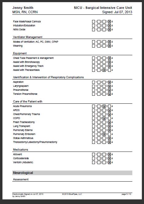 Sample Nursing Skills Checklist Bluepipes Blog Checklist Template Nursing Resume Medical School Studying