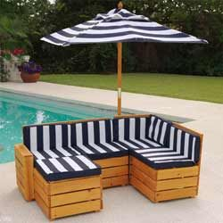 Outdoor sectional for kids